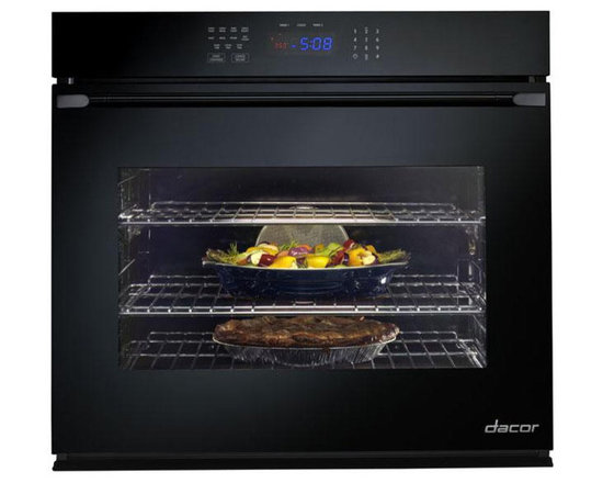 "Dacor Renaissance 30"" Single Electric Wall Oven, Black Glass 