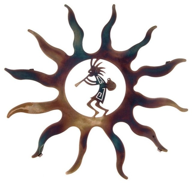 Southwest Metal Wall Art Kokopelli With Sunburst16
