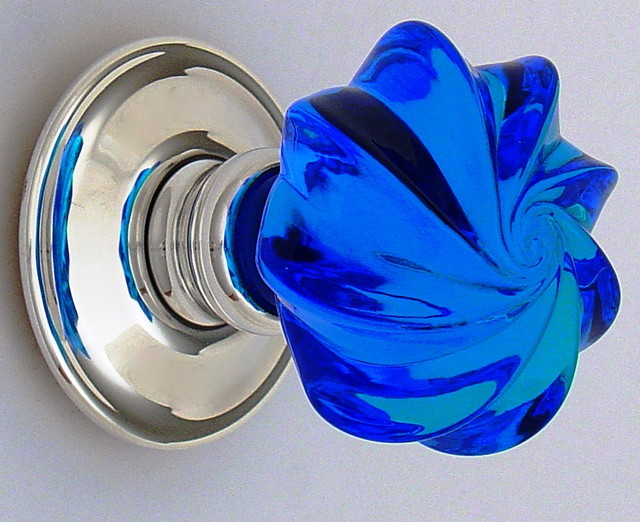 Blue glass knobs - Contemporary - Cabinet And Drawer Knobs - other metro - by Merlin Glass