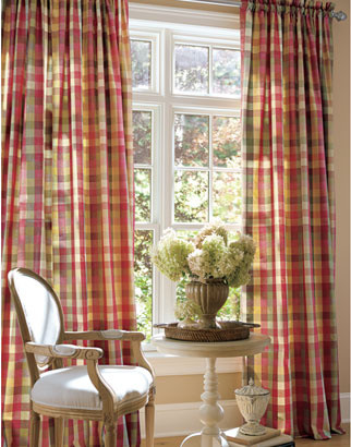 Rod Pocket Curtains, Drapes, Moire Plaid Curtains traditional curtains