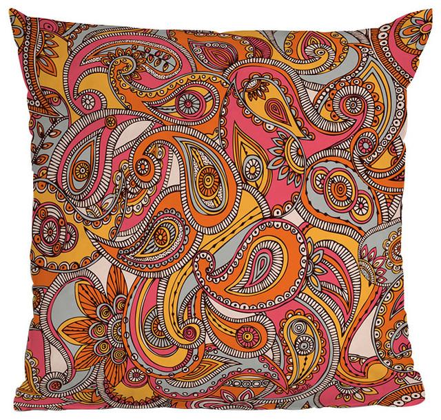 DENY Designs Valentina Ramos Spring Paisley Throw Pillow eclectic-decorative-pillows