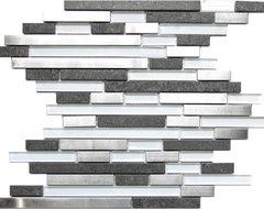 Modern Random Mix Steel - Glass - Ceramic I contemporary-tile