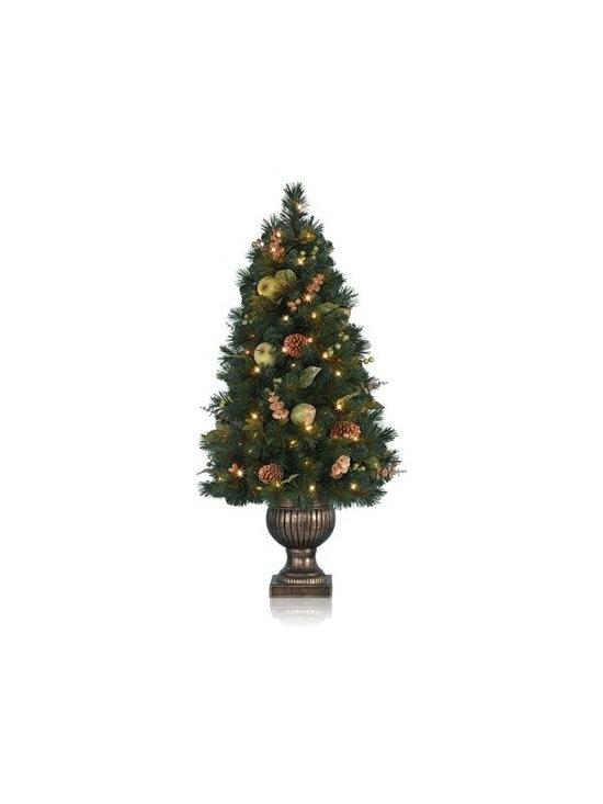 Balsam Hill Sausalito Pine Topiary Artificial Christmas Tree - THE SPLENDOR OF BALSAM HILL'S SAUSALITO POTTED PINE TREE |