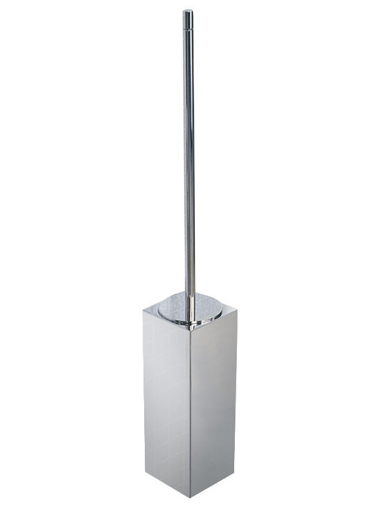WS Bath Collections - Metric Wall Toilet Brush Holder in Brushed St - Made in Spain. Product Material: Brushed Stainless Steel. Finish/Color: Polished Chrome. Dimensions: 3.1 in. W x 3.5 in. L x 23.2 in. H