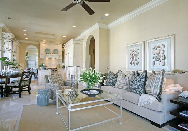 Traditions II @ Grey Oaks beach-style-living-room