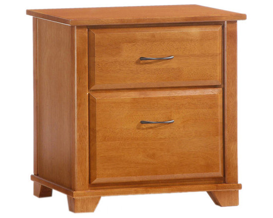Night And Day Furniture - Night And Day Furniture Juniper 2 Drawer Night Stand In Medium Oak Finish - The Juniper Nightstands provide you with two good size drawers, great for stashing away your bedside things for quick and easy cleanup.
