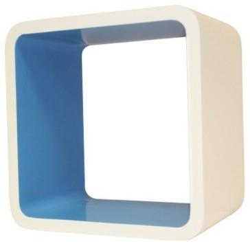 Cosmos Wall Cube Display Shelves, Blue modern-wall-shelves