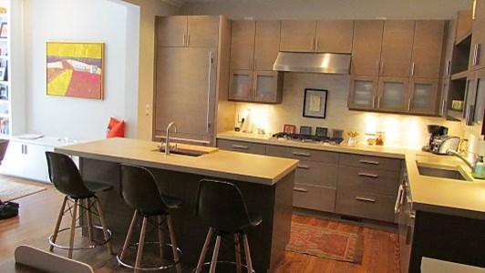Brownstone kitchen eclectic kitchen countertops for Brownstone kitchen ideas