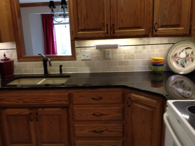Tile backsplash transitional tile kansas city by for Flooring topeka