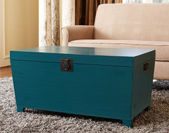 Turquoise Pyramid Trunk Coffee Table asian-coffee-tables