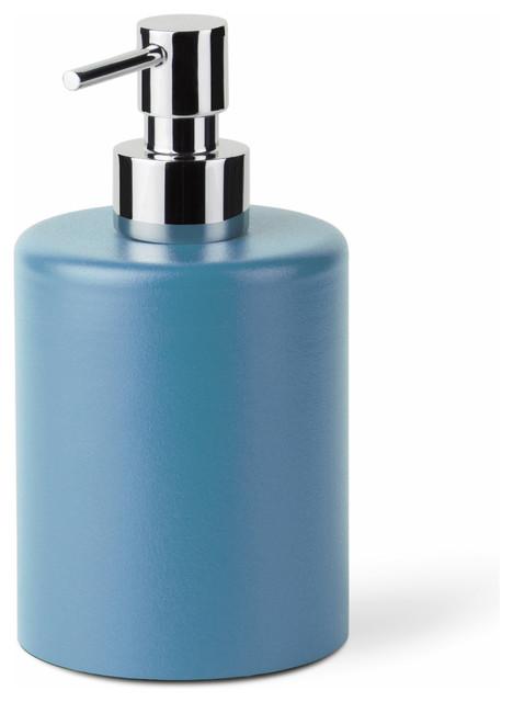 Saon 44018 Liquid Soap Dispenser In Painted Aluminum Blue Contemporary Soap Lotion