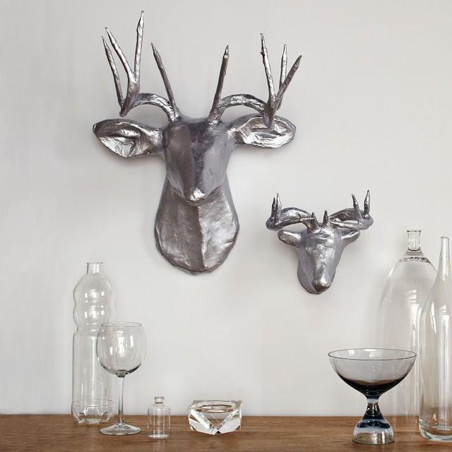 papier m 226 ch 233 animal sculptures silver deer eclectic home decor by west elm