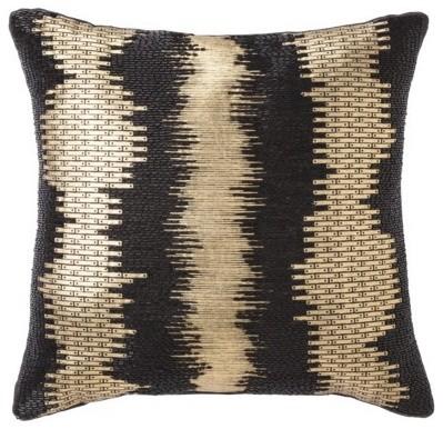 nate berkus foil print decorative pillow black gold. Black Bedroom Furniture Sets. Home Design Ideas
