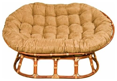 International Caravan Papasan Double Chair Rattan Frame