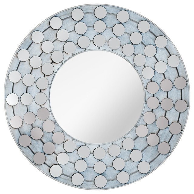 "Accent Cooper Classics Arden 31 1/4""W White Wash Wall Mirror contemporary-mirrors"