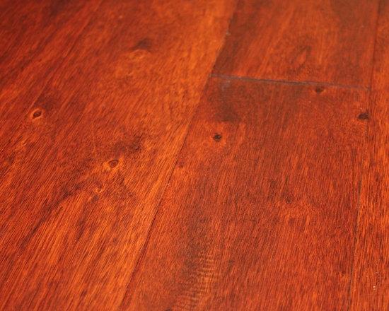 Eucalyptus Spice 3/8 x 5 Hand Scraped Engineered Hardwood Floors -