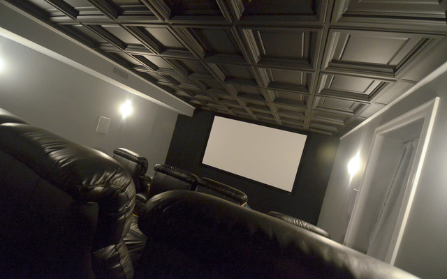 Westminster Ceiling Tiles Home Theater By Ceilume