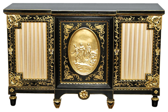 Black And Gold Sideboard Tables Pictures to Pin on Pinterest