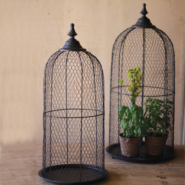 wire bird cage domes set of 2 eclectic home decor hometalk barbed wire wall butterfly craft