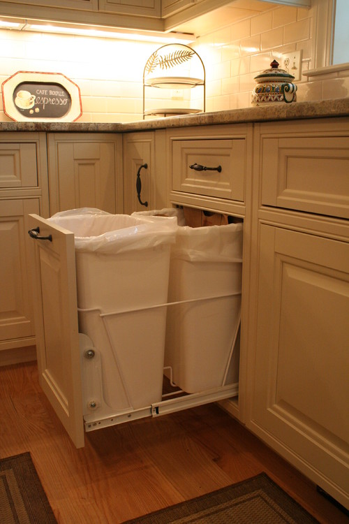 Where do you keep your kitchen garbage receptacle