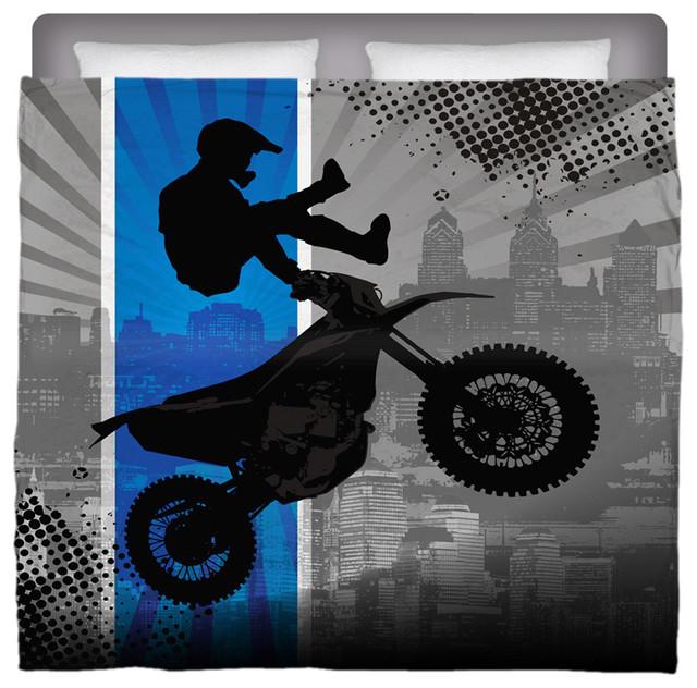 Eco Friendly Made In USA Motocross King Comforter modern-kids-bedding