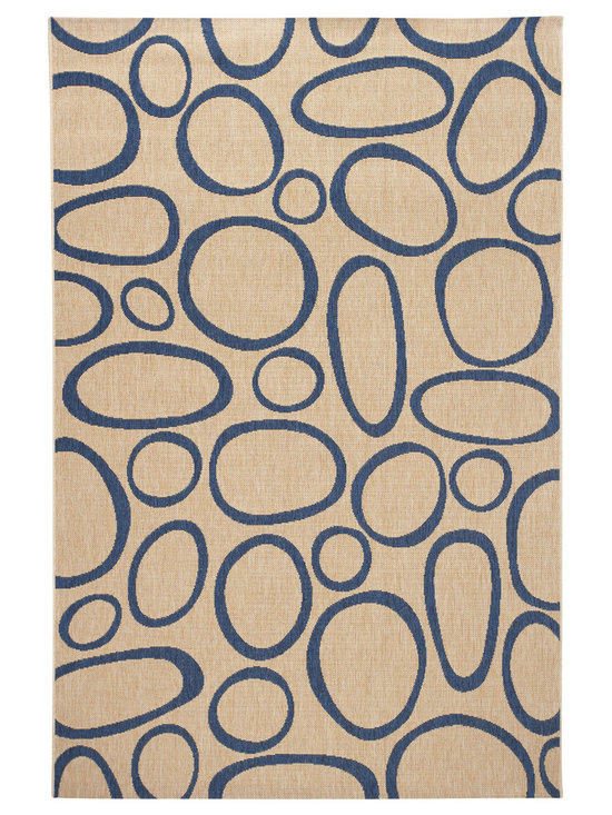 Lulu, Indoor/Outdoor Rug - Lulu is one of our classic designs resembling the patterns of beach rocks, stacks of wood and frozen bubbles in the ice. angela adams outdoor rugs are UV protected and are resistant to staining and mildew. For use both indoors and outdoors.