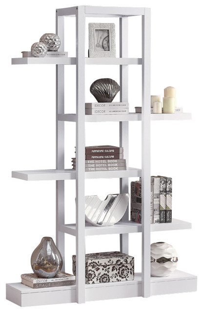 Open concept display etagere white traditional for Open concept bookcase