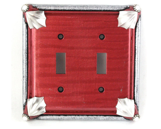 Cleo Double Toggle Switch Cover Ruby -