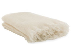 Mohair Blanket, Cream modern throws