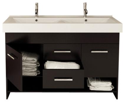 Rigel Large Double Sink Modern Bathroom Vanity Cabinet Modern Bathroom Va