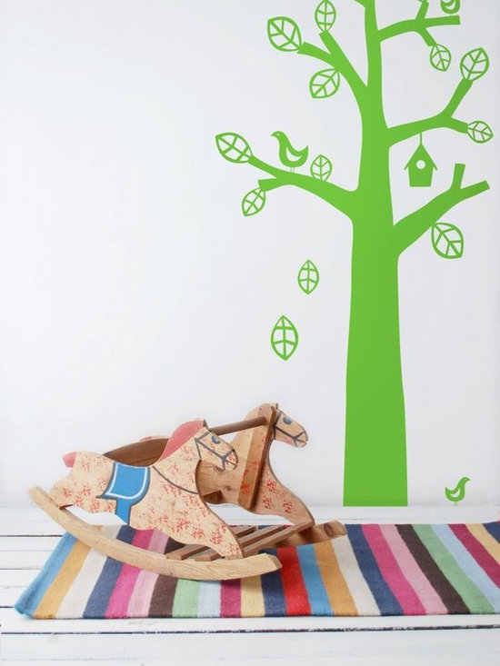 Ferm Living Bird Tree WallSticker - With Ferm Living WallStickers it is easy to create a new look and change the style in a room in a matter of minutes. By using WallStickers, your kids can also help decorate their own room in an array of colors.