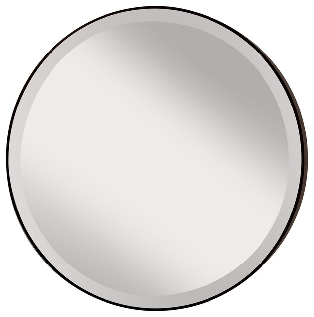 Murray Feiss MR1127ORB Johnson Transitional Round Mirror contemporary-mirrors