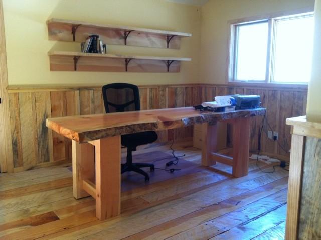 Pine Slab Desk rustic-furniture