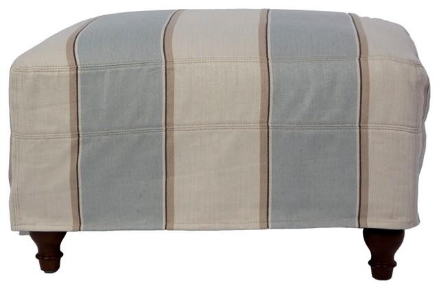 Sunset Trading Seacoast Ottoman Slip Cover Set Slipcovered Ottoman