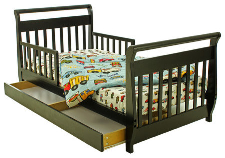Sleigh Toddler Bed with Storage Drawer - modern - beds - by Wayfair