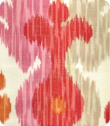 Journey Ikat Fabric, Pink/Orange eclectic-upholstery-fabric