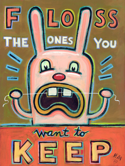 Floss the Ones You Want to Keep - Limited Edition Humorous Print contemporary-fine-art-prints