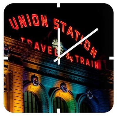 DENY Designs Bird Wanna Whistle Union Station Clock modern-clocks