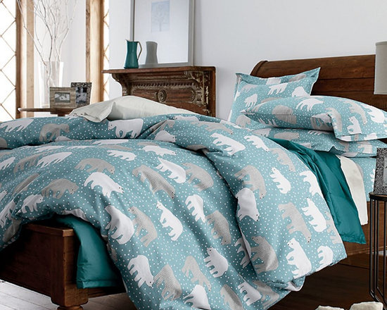Deep Snow Flannel Sheets -