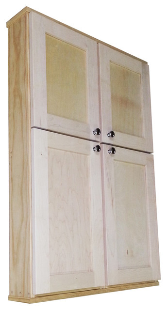 Shaker Series 42 Inch Double Door Wall Cabinet Contemporary Kitchen Cabin