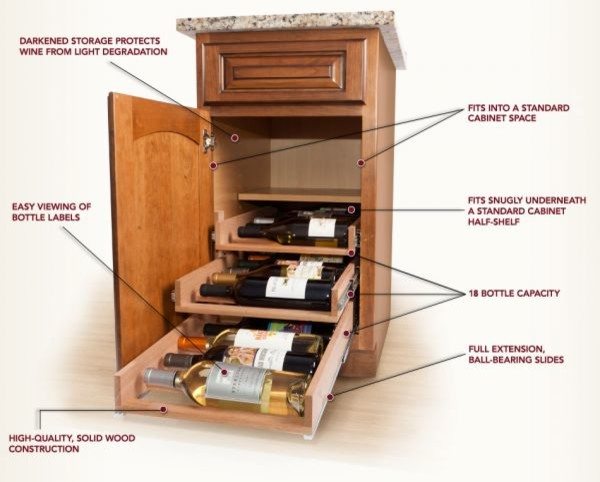 Wine Logic Wine Storage For Cabinets Traditional Other Metro By