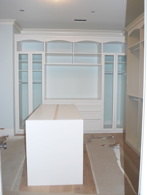 Walk In Closet with Island contemporary-closet