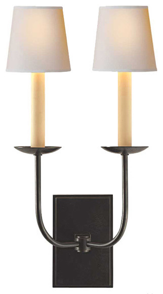 TT Double Wall Light traditional-wall-sconces