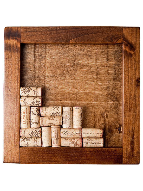 Alpine Wine Design - Trivet Kit, Provincial - Savor that bottle for years to come. Create your own personalized trivet with the corks of wines past. Each box is made from reclaimed wood and finished in your choice of stains. Don't have 32 corks to make one? Then you better start drinking!