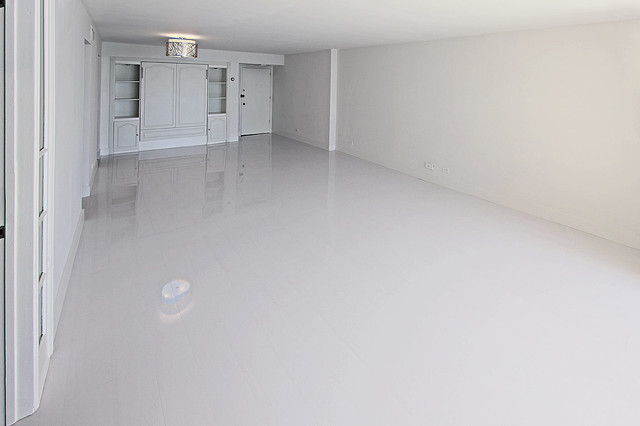 White glossy laminate floors modern miami by glace for White laminate flooring