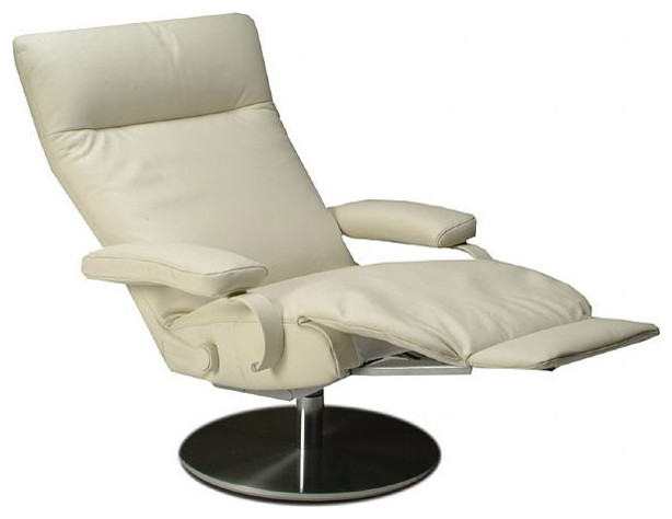 Lafer sumi swivel recliner contemporary armchairs and for Catnapper maverick chaise swivel glider recliner