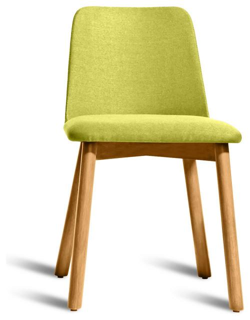 Blu Dot Chip Dining Chair White Oak Bright Green