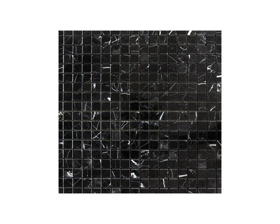 "1.5"" x 1.5"" China Black Polished Natural Stone Mosaic -"