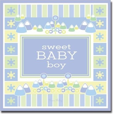 Sweet Baby Boy - B Wall Art by Grace Riley modern-artwork