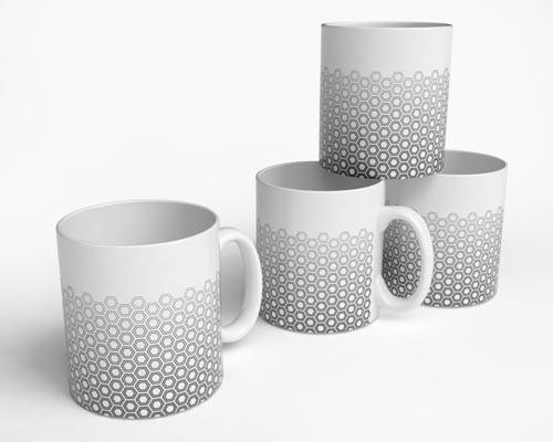 Hex Fade Mugs modern-mugs